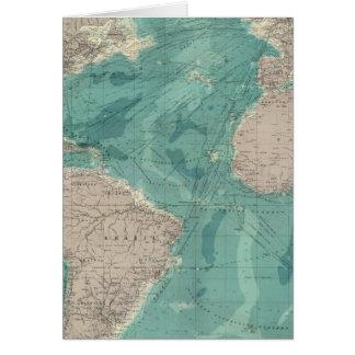 Océano Atlántico compuesto Tarjeta De Felicitación