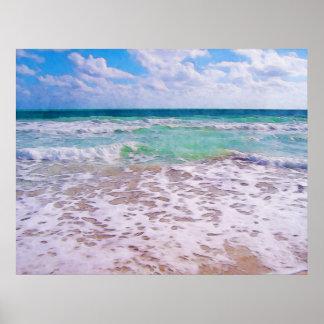 Océano Atlántico en la playa de la Florida Póster