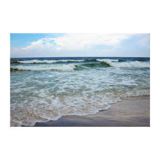 Océano azul brillante 1 lienzo envuelto para galerías
