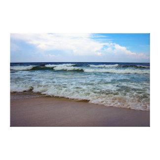 Océano azul brillante 2 impresión en lienzo estirada