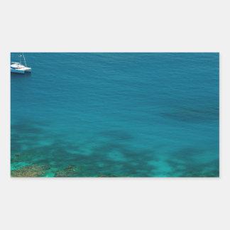 Océano azul de la isla de Yasawas Fiji