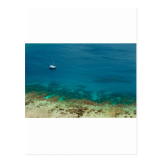 Océano azul de la isla de Yasawas Fiji Postales