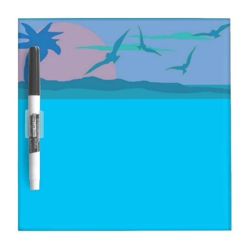 Océano azul escénico pizarra blanca
