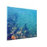 Océano azul impresiones de lienzo