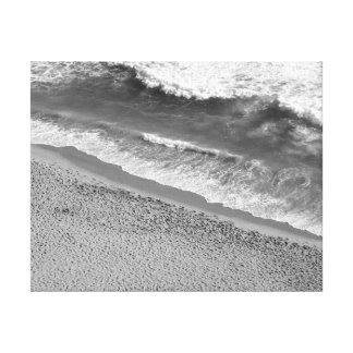 Océano blanco y negro impresiones en lona estiradas