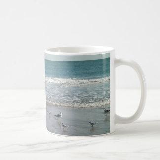 Océano con la taza de las gaviotas