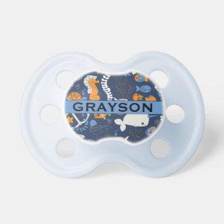 "Océano conocido personalizado de ""Grayson"" Chupetes"
