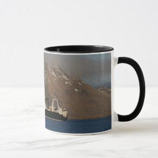 Océano de Alaska, barco rastreador de fábrica en