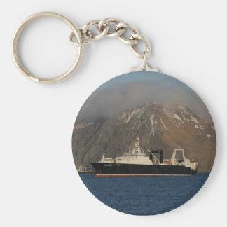 Océano de Alaska, barco rastreador de fábrica en e Llavero Redondo Tipo Pin