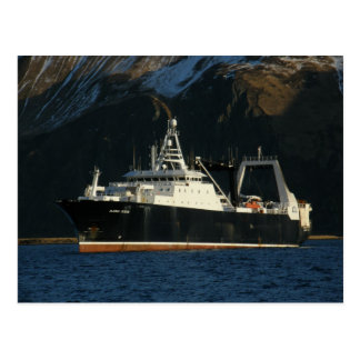 Océano de Alaska, barco rastreador de fábrica en Tarjetas Postales