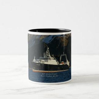 Océano de Alaska, barco rastreador de fábrica en Taza De Dos Tonos