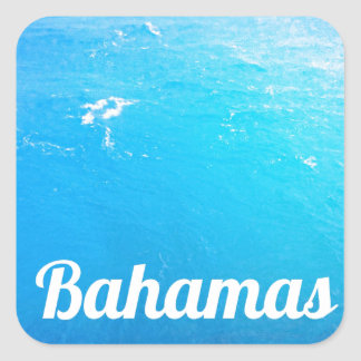 Océano de Bahamas Pegatina Cuadrada