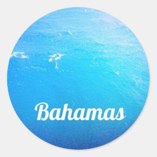 Océano de Bahamas Pegatina Redonda