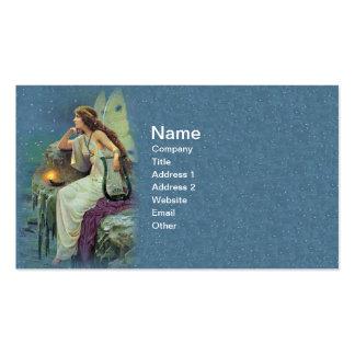 Océano de hadas bonito de la vela de la arpa de tarjetas de visita
