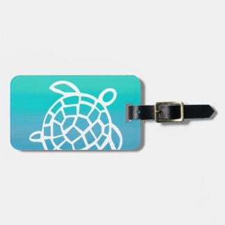 Océano de la acuarela de la tortuga de mar etiquetas bolsas