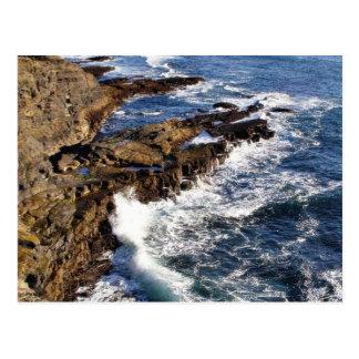 Océano de la costa postales