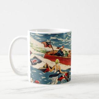 Océano de la fila de la antigüedad del vintage del taza clásica