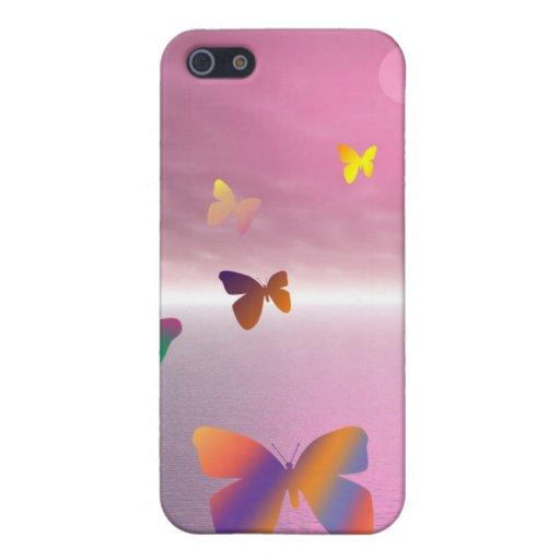Océano de la mariposa iPhone 5 fundas