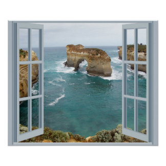 Océano de la opinión de la ventana impresiones