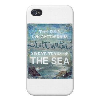 Océano de la playa del agua salada   del mar iPhone 4 cárcasa
