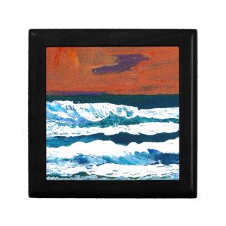 Océano de mi decoración del mar de las olas oceáni caja de regalo