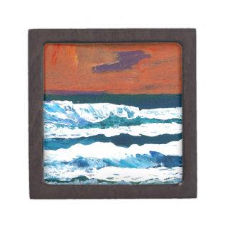 Océano de mi decoración del mar de las olas oceáni caja de joyas de calidad