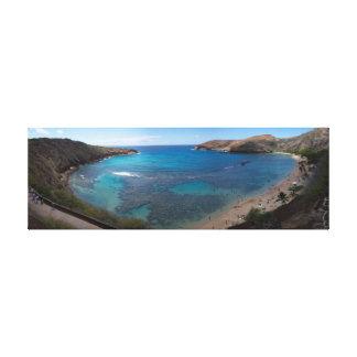 Océano de Oahu panorámico Impresión En Lienzo