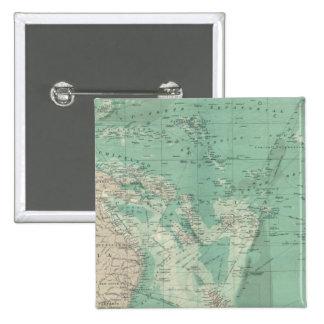 Océano de South Pacific Pin Cuadrado
