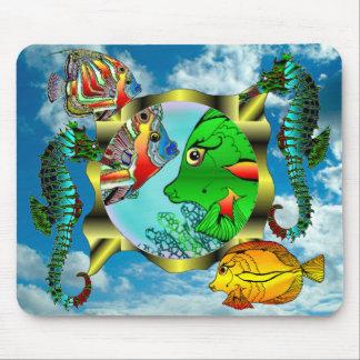 Océano del cojín de ratón de Seaquarium en el ciel Alfombrillas De Ratones