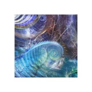 Océano del fractal lienzo envuelto para galerías