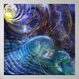 Océano del fractal posters