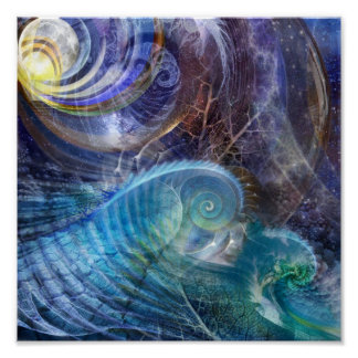Océano del fractal poster