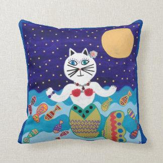 Océano del gato de Mermais del arte de la almohada Cojín Decorativo