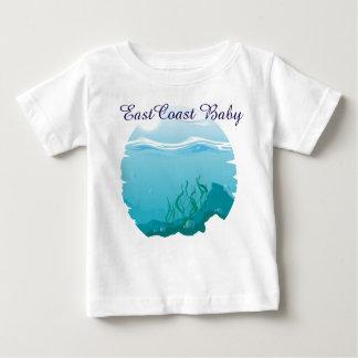 Océano del mar del bebé de la costa este náutico playera