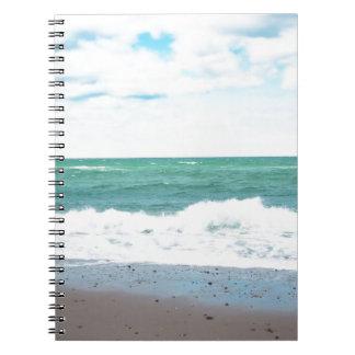 Océano del trullo, playa de Sandy Libros De Apuntes