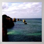 Océano divino de Portugal - trullo y azul Posters