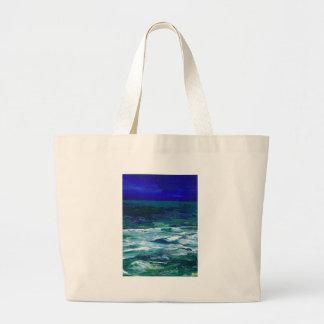 Océano en los regalos del paisaje marino del arte  bolsa de mano