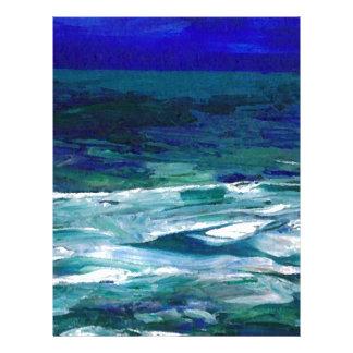Océano en los regalos del paisaje marino del arte membrete