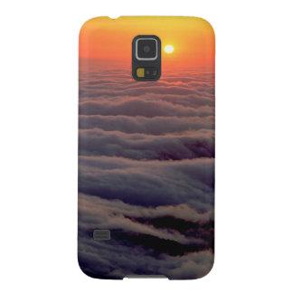 Océano etéreo de la puesta del sol fundas de galaxy s5