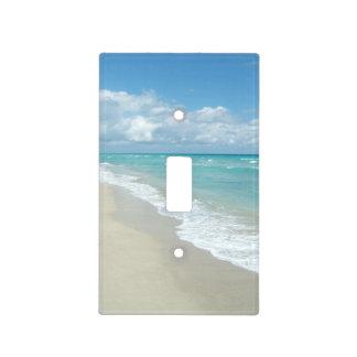 Océano extremo de la opinión de la playa de la rel placa para interruptor