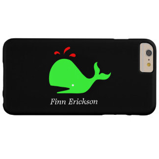 Océano Glow_Big Spouty Whale_personalized Funda Para iPhone 6 Plus Barely There