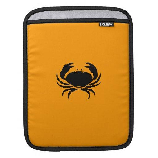Océano Glow_Black en cangrejo anaranjado Fundas Para iPads