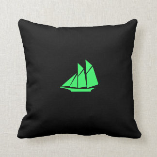Océano Glow_Green_Black nave de podadoras de Blac Cojines