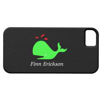 Océano Glow_Spouty Whale_personalized Funda Para iPhone SE/5/5s