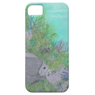 Océano gris del azul del Angelfish iPhone 5 Case-Mate Cobertura
