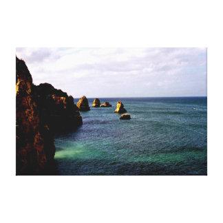 Océano hermoso de Portugal - trullo y paraíso del Impresión En Lienzo