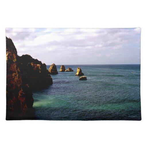 Océano hermoso de Portugal - trullo y paraíso del Mantel Individual