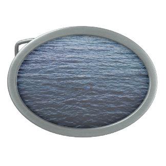 Océano hermoso hebilla cinturón oval