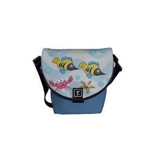 Océano lindo con la mini bolsa de mensajero cero d bolsas messenger
