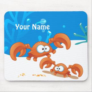 Océano lindo Mousepad acuático del cangrejo